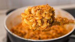 Снова макароны с фаршем   Рецепт   One pot pasta