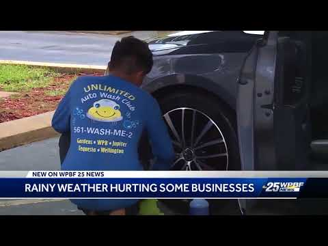 Rainy weather hurting some businesses