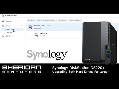 Upgrading hard drives in Synology NAS DS220+