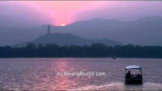 Video : China : Sunset over the mountains, BeiJing 北京