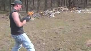 Burning AK47  300 Rounds & On Fire