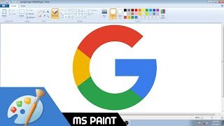 How to Draw Google logo in MS Paint from Scratch!