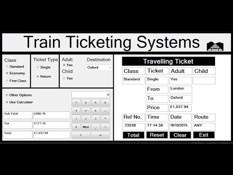 Visual Basic.Net Project of Train Ticketing Systems – Full Tutorial
