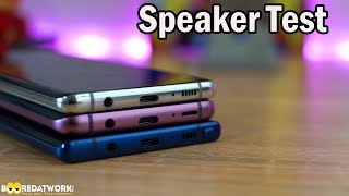 Samsung Galaxy S10+ vs Samsung Galaxy Note9 vs Samsung Galaxy S9+: Speaker Test