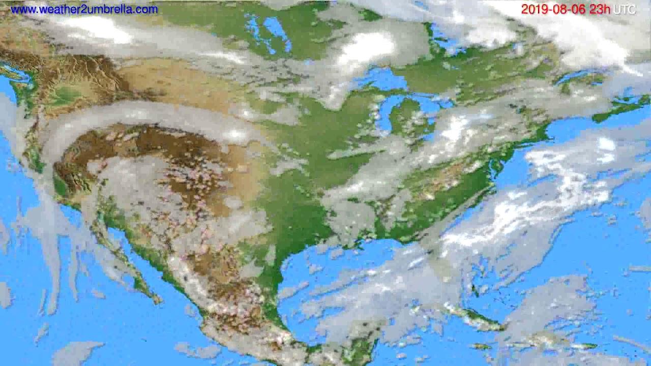 Cloud forecast USA & Canada // modelrun: 12h UTC 2019-08-03
