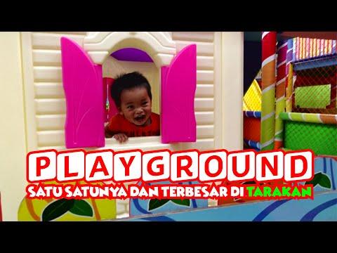 Balita Asyik Bermain di Wahana Playground Kiddie Land Ramayana Kota Tarakan