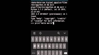 Python tutorial 1 on android