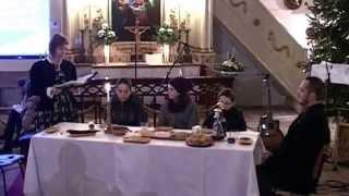 preview picture of video 'Éjféli Istentisztelt Orosháza evangélikus templom 2014'