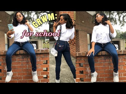 GRWM: I WORE A FULL FACE OF MAKEUP TO SCHOOL