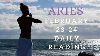 "ARIES SOULMATE ""HEALTHY RELATIONSHIP COMING SOON!"" FEB 23-24 DAILY TAROT READING"