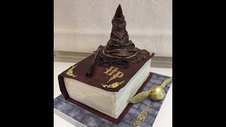 Adisa Cakes Making Of Harry Potter Book Of Spells Cake