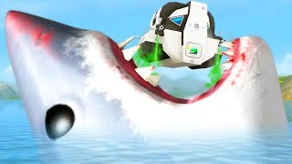 GIANT SHARK vs MOON LANDER - Amazing Frog - Part 148   Pungence