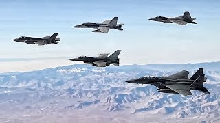 Five Different U.S. Fighter Jets Fly Together In Formation