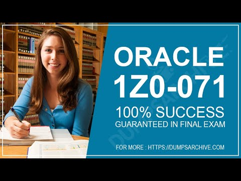 Easy Way To Prepare Oracle 1Z0-071 with Real 1Z0-071 Exam Questions