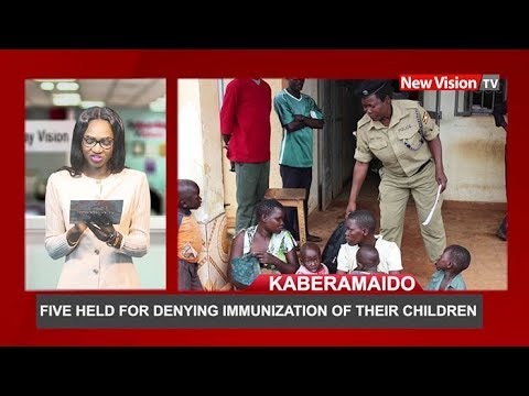 Five held for denying immunization of their children