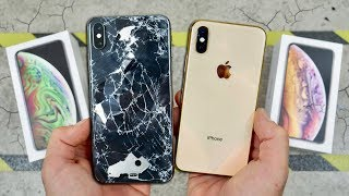 iPhone XS vs XS Max DROP Test! Worlds Strongest Glass! - Video Youtube