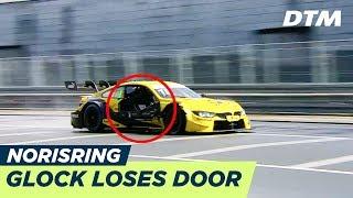 DTM - Norisring2018 FP1 Glock crashes into Spengler