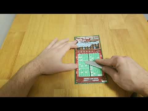 Hoosier Lottery Holly Jolly Bingo scratch off ticket