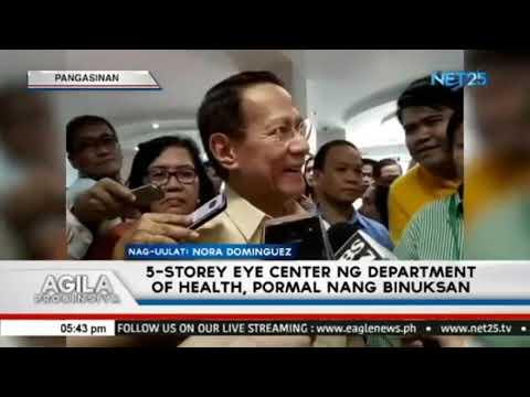 [EagleNewsPH]  5 storey eye center ng Department of Health, pormal nang binuksan