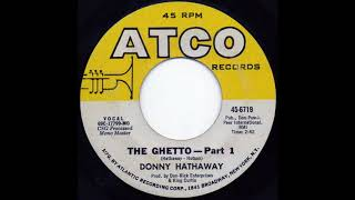 """DONNY HATHAWAY: """"THE GHETTO"""" [Tom Moulton Mix]"""