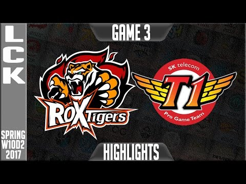 ROX Tigers vs SKT Highlights Game 3 - LCK W10D2 Spring 2017 ROX vs SKT G3