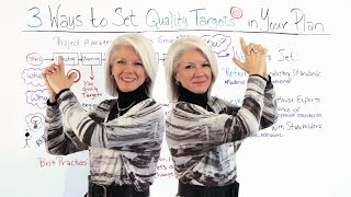 How to Set Quality Targets in Your Plan