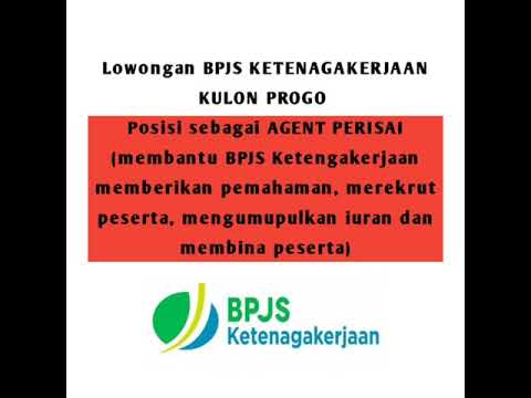 Lowongan Kerja Agent Perisai BPJS Ketenagakerjaan Kulon Progo - Lowongan Kerja Informasi