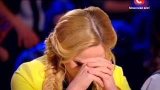 Александр Шома и Инна Парвосудова - Україна має талант-7 - Кастинг в Киеве - 07.03.2015