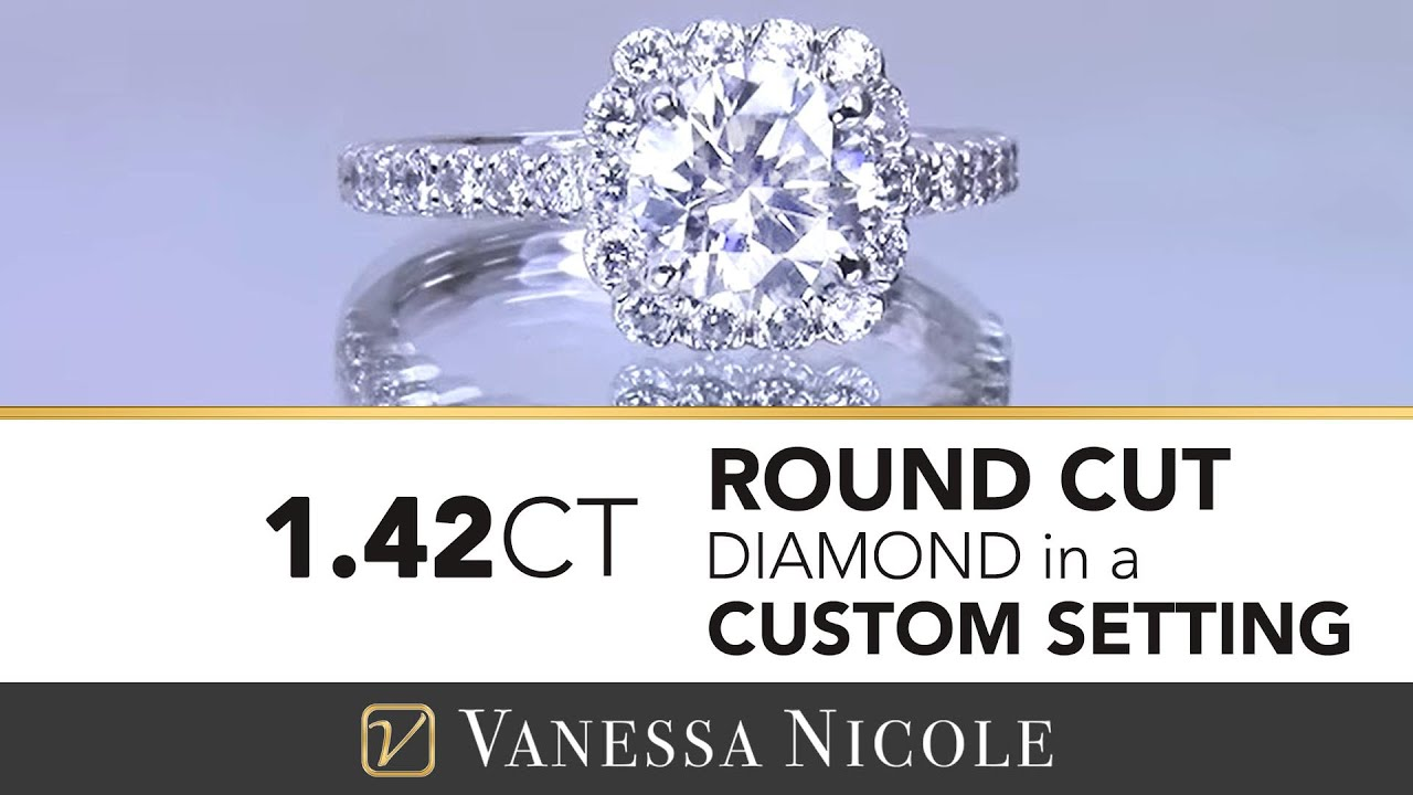 1.42ct Round Cut Diamond Ring