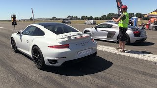 Audi R8 V10 Plus vs Porsche 991 Turbo S
