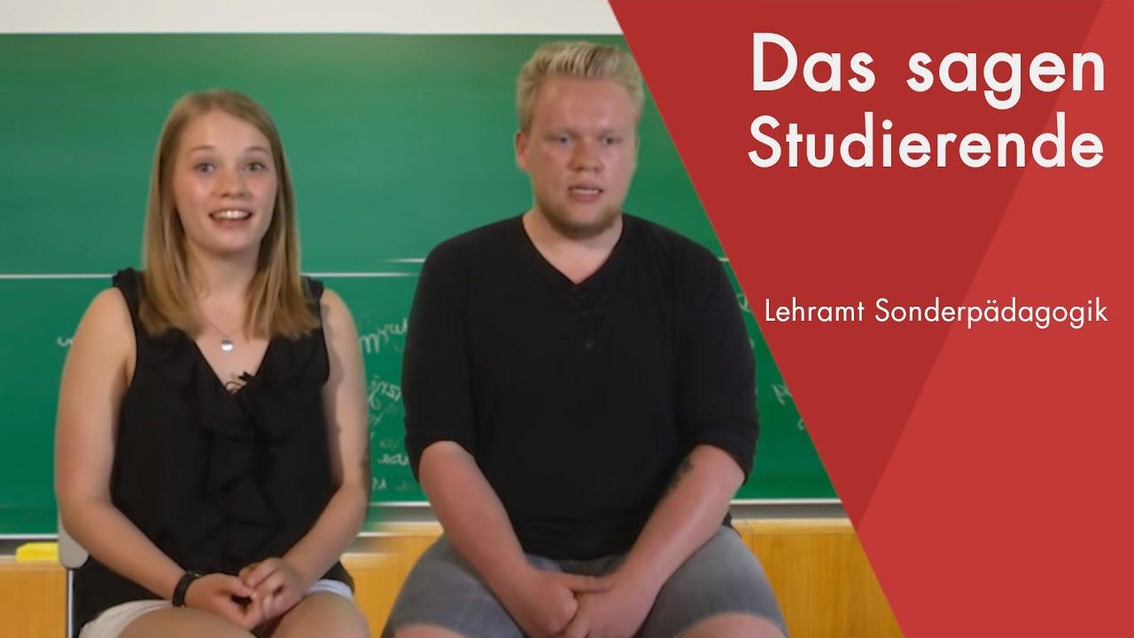"""""""Das sagen die Studierenden"""" Lehramt Sonderpädagogik"""