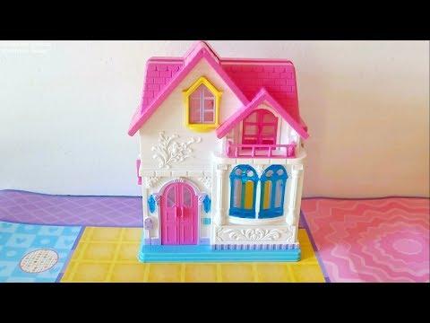 Игрушечный домик с мебелью для кукол. Обзор домика.