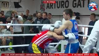 1-е рейтинговые бои Лига бокса г. Москвы – 07.10.17 г. до 64 кг.