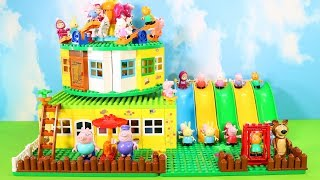 Peppa Pig Legos House Construction Sets - Lego Duplo House Creations Toys For Kids #3