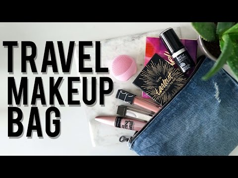What's In My TRAVEL MAKEUP BAG: How To AVOID Overpacking   Ft. LUNA play   Jamie Paige