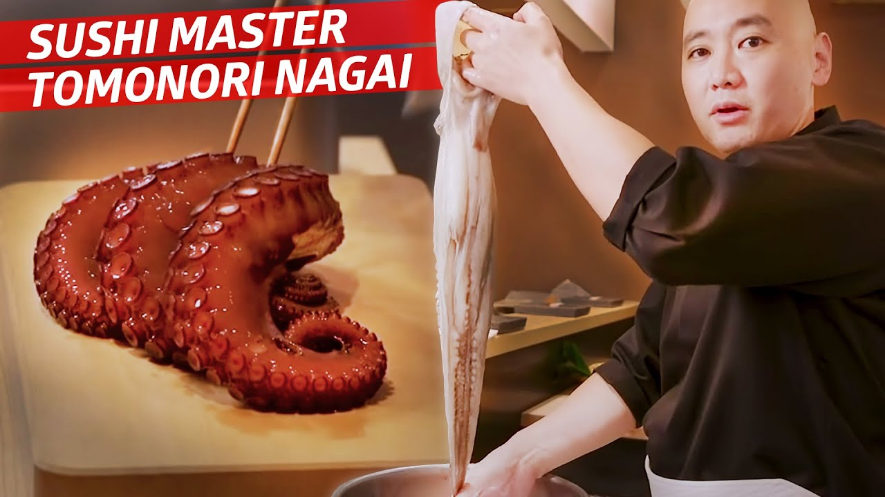 How Master Sushi Chef Tomonori Nagai Prepares an Octopus for His Omakase  — Omakase thumbnail