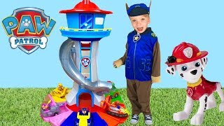 Paw Patrol My Size Lookout Tower with Chase Marshall Lights and Sounds