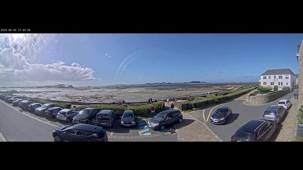 Webcam en direct de Roscoff avec vue sur l'île de Batz