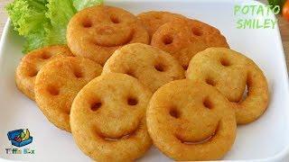 Homemade Potato Smiley / Emoji Fries Recipe    Easy Evening snacks idea for kids , পটেটো স্মাইলি