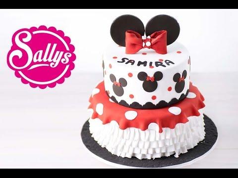 Minnie Mouse Torte / zweistöckige Motivtorte / Walt Disney / Geburtstagstorte