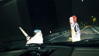 KILLER CLOWN RUN OVER Clown Sighting (Original Video)