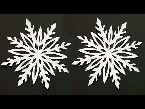 How to Make Snowflake with Paper | Making Paper Snowflakes Step by Step | DIY-Paper Crafts