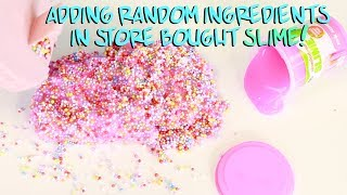 ADDING TOO MUCH INGREDIENTS IN STORE BOUGHT SLIME! Slimeatory #496