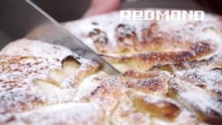 Шарлотка с яблоками в аэрогриле, видеорецепт для REDMOND RAG-241