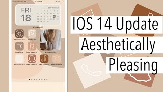 How to create An Aesthetically pleasing iPhone with the new IOS 14 update! | Step by Step!