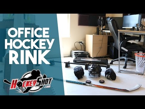 TURNING MY OFFICE INTO A HOCKEY RINK?!