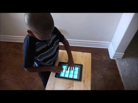 7 Year old beats on Drum Pads 24 Neon Hip Hop