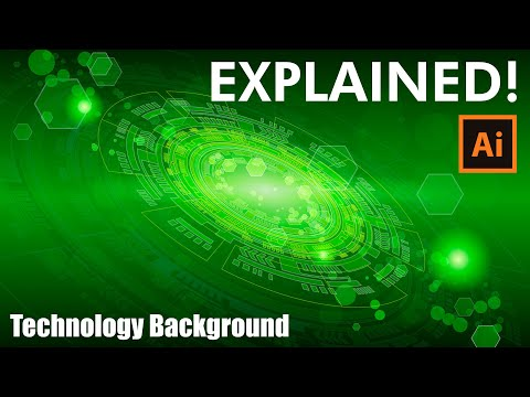 How to make a Technology Background with Brushes – Adobe Illustrator Tutorial
