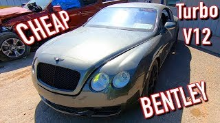 Copart Walk Around 10-8-19 Bentley GT Twin Turbo V12