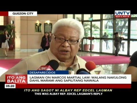 [UNTV]  Lagman on Marcos martial law: Walang nakulong dahil marami ang sapilitang nawala
